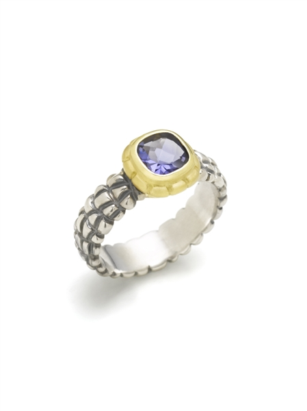 Jane Bohan iolite alligator ring