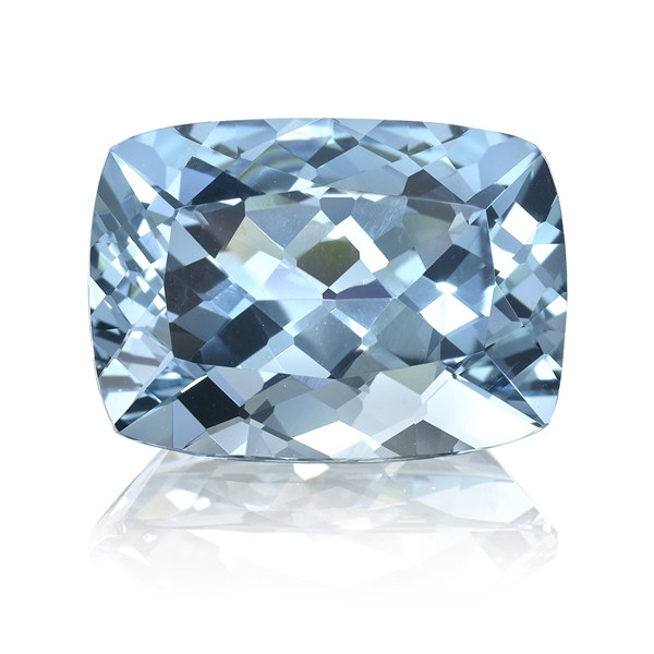 Omi Gems cushion-cut aquamarine