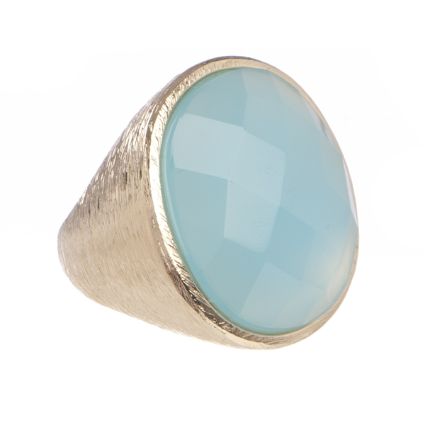 Marcia Moran blue agate cocktail ring