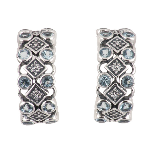 SNS Jewelry Studio aquamarine earrings