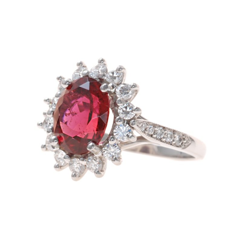 Pampillonia Designs red tourmaline ring