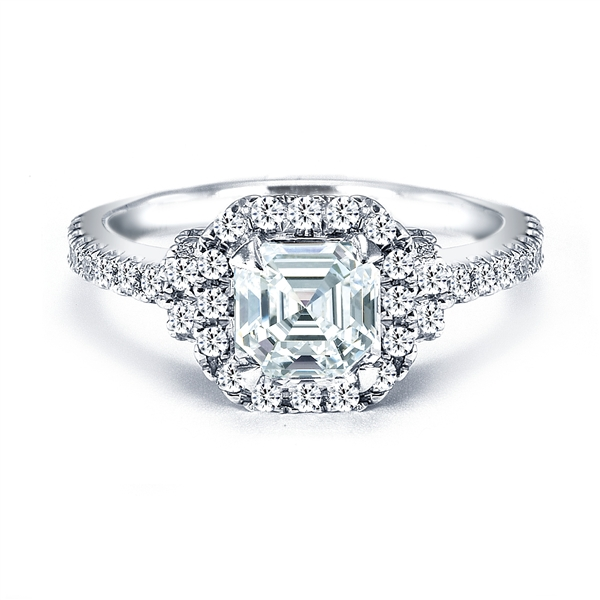 Royal Asscher diamond engagement ring
