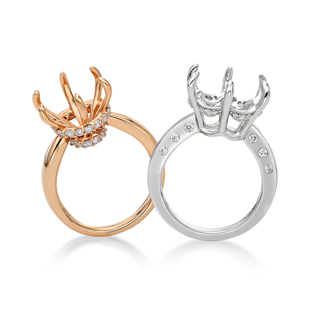 Graceful Princess semi-mounts from Gold Source Jewellery