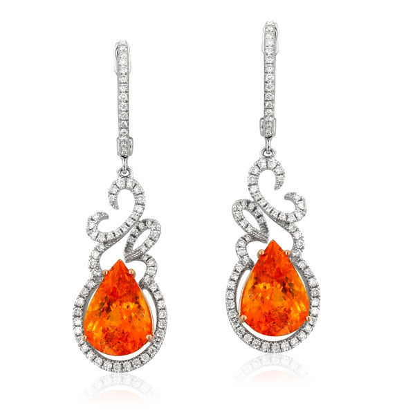 Yael Designs Fire Dro garnet earrings