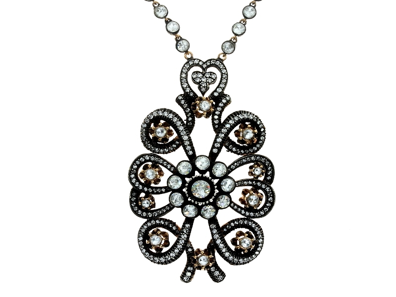 Nev Jewellery rose-cut diamond necklace