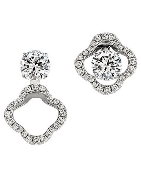 Gottlieb & Sons floral convertible earring jackets
