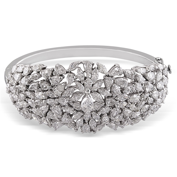 Designs by H.C. diamond cluster bangle