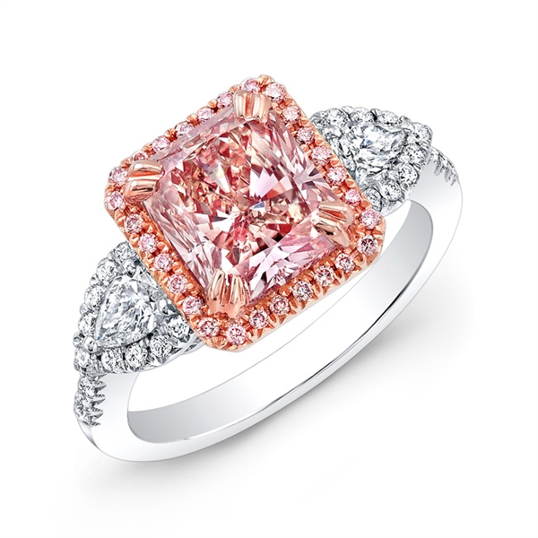 MK Diamonds & Jewelry radiant pink diamond ring