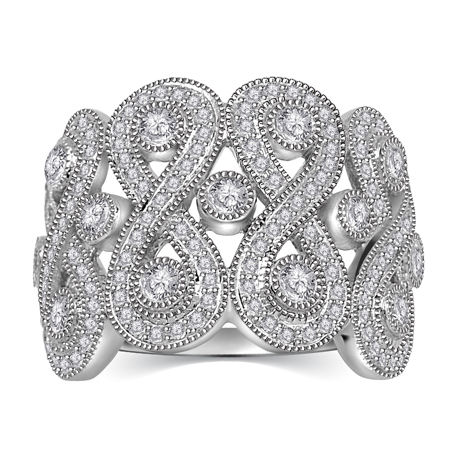 Kama Schachter anniversary ring in 14k gold with diamonds