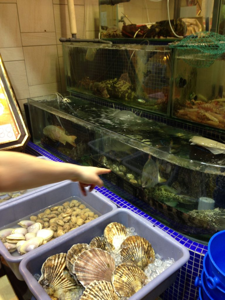 Fresh fish for dinner in Hong Kong