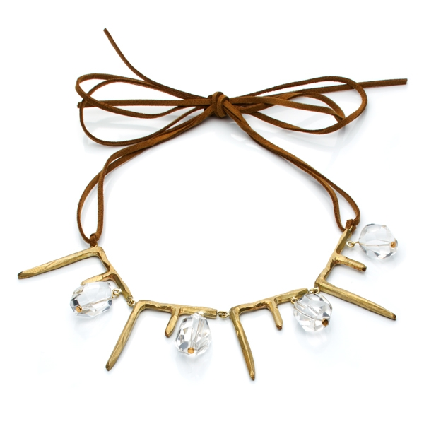 Natalie Frigo Icicles and Rock Crystals necklace