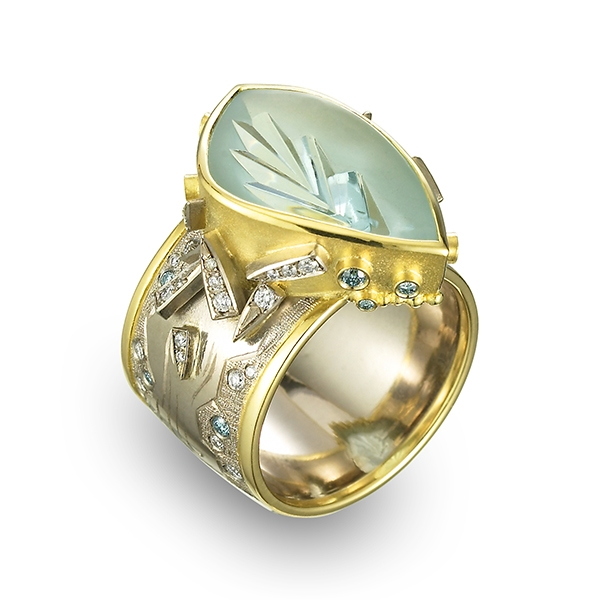 Cornelia Goldsmith aquamarine Glacier ring