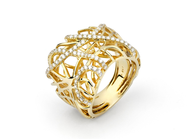 Facet Barcelona Bird's Nest ring