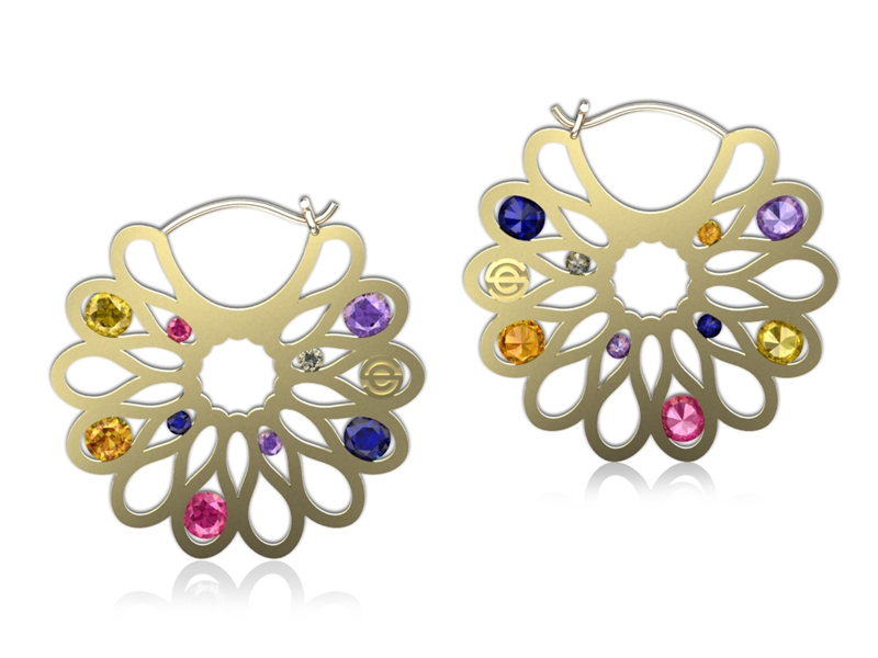 Erik Stewart Elizabeth earrings