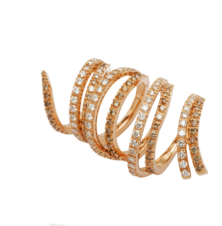 a new diamond and 18k gold snake ring from Staurino