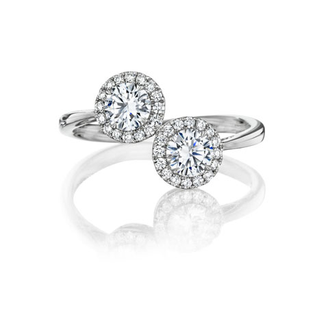 A. Link for Forevermark diamond halo ring
