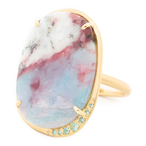 Anne Sportun Paraiba ring in 18k yellow gold