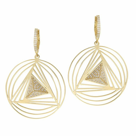 Ileana Makri gold and diamond drop earrings