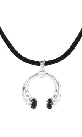 JewelPop silver and amethyst necklace