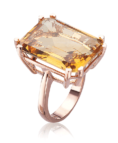 Lisa Nik ring in gold with citrine