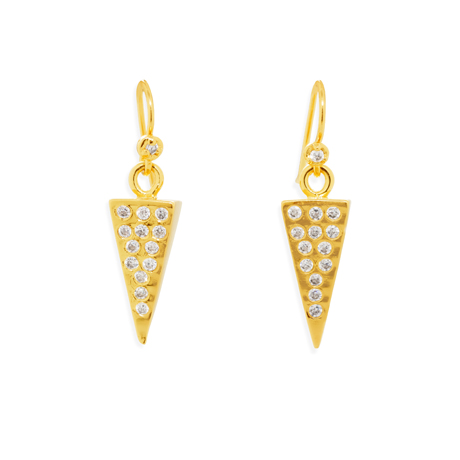 Melinda Maria earrings in 14k gold-plated brass with CZ