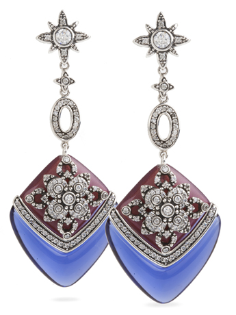 Miriam Salat earrings in silver with resin and CZ