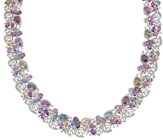 Nabil Mouzzanar gemstone necklace