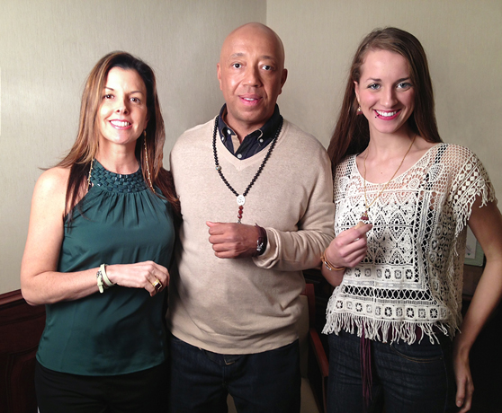 Donna Distefano, Russell Simmons, and Elizabeth Hamrick for the Diamond Empowerment Fund