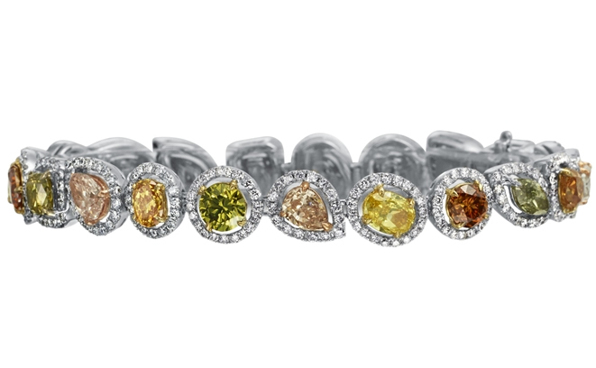 Rina Limor multicolor natural diamond bracelet