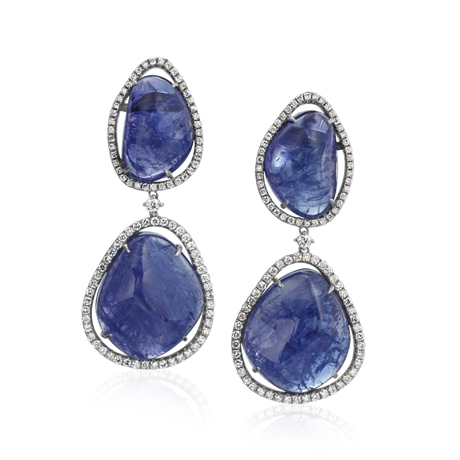 Rina Limor tanzanite and diamond earrings