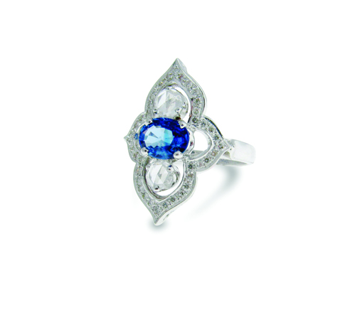 Sethi Couture sapphire and diamond ring