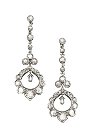 Sethi Couture diamond drop earrings