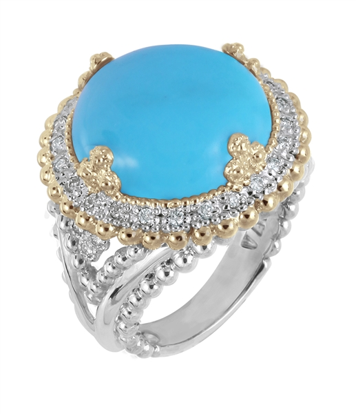Vahan Jewelry cabochon turquoise ring