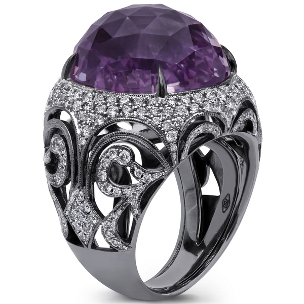 Beaudry International pink amethyst dome ring
