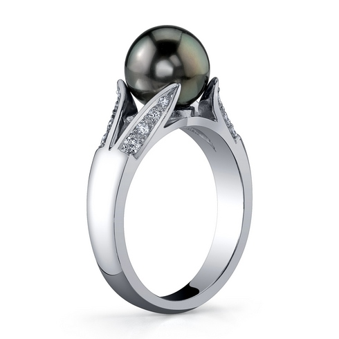 A&Z Pearls Tahitian Bloom ring
