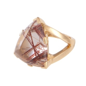 Karin Jamieson rutilated quartz cocktail ring