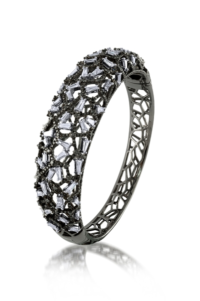 Mira Style black and white diamond bangle