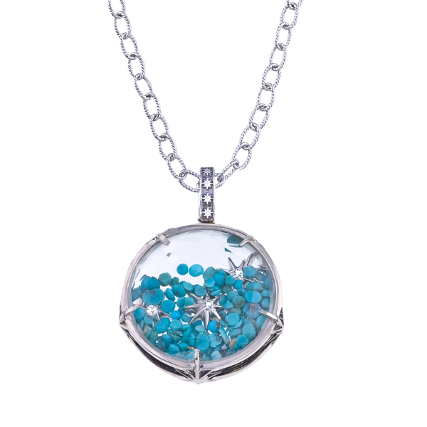 What's Your Sign? turquoise Baby Nova pendant