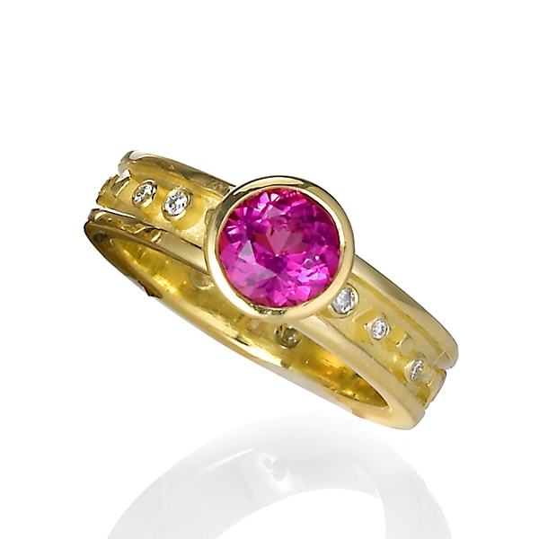 Cornelia Goldsmith rubellite tourmaline ring