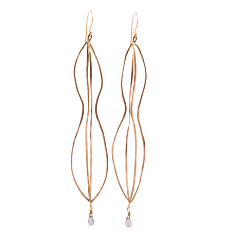 Margery Hirschey gold earrings
