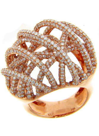 Michael John Jewelry ring in rose gold with diamonds