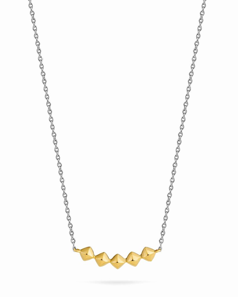 Ti Sento Milano two-tone pyramid necklace