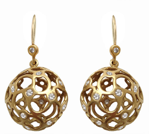 Robin Koffler earrings in gold