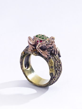 Wendy Brandes Frog With Prince ring