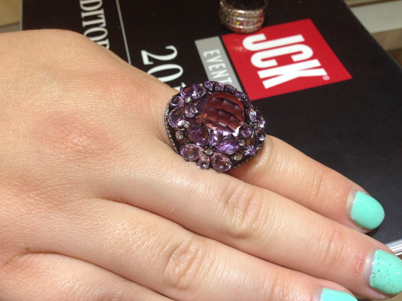 Ashi Diamonds amethyst ring