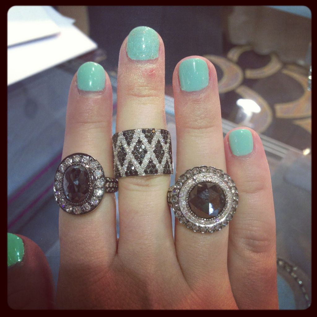 Sethi Couture black and white rings