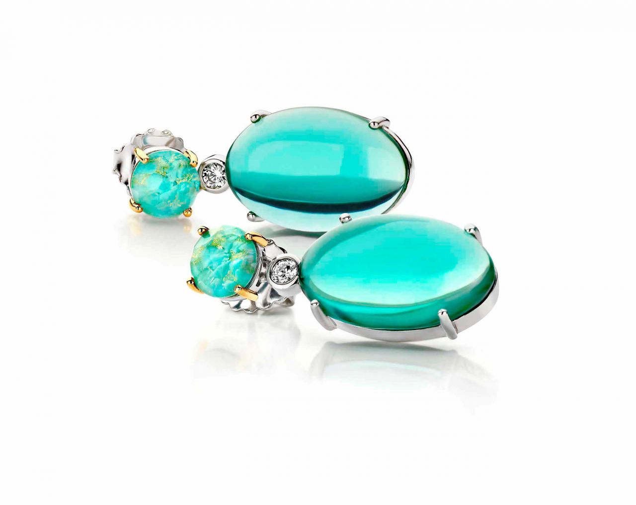 Ti Sento Milano turquoise Sunset earrings