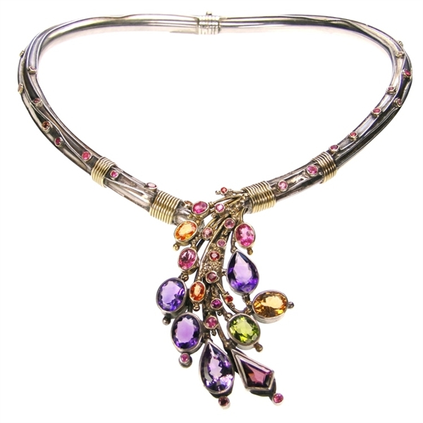 Evangelatos Weeping Bouquet necklace