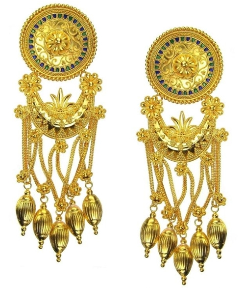 Damaskos classical chandelier earrings
