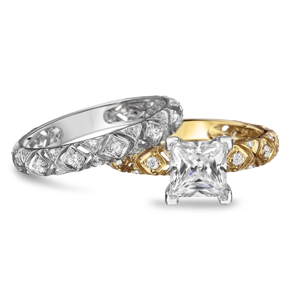 Diadori two-tone engagement set